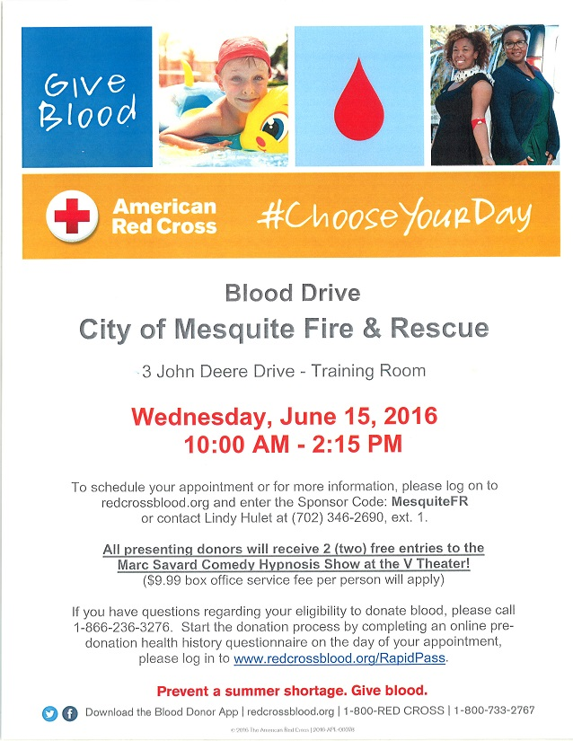 City of Mesquite Fire and Rescue Blood Drive