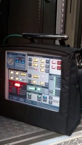 This new portable ventilator will assist Mesquite Fire and Rescue in treating patients who are faced with respiratory failures while they are transported to a hospital. Photo by Stephanie Frehner.