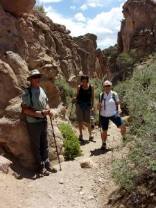 Jim, Julie, and Deb in Ash Canyon, Ash Canyon Trail, Echo Canyon State Park, NV - June 2016