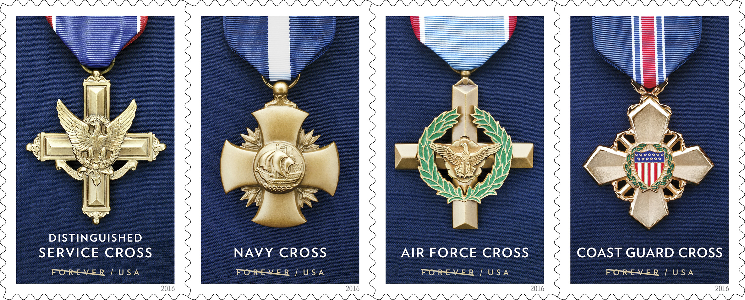 Post Office issues new stamps honoring military Service Cross Medals