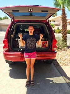 Virgin Valley High School graduate Madison Fielding isn't wasting any of her precious time and is loaded up for a move to St. George and her start in dental school on Monday, June 6.  Submitted Photo