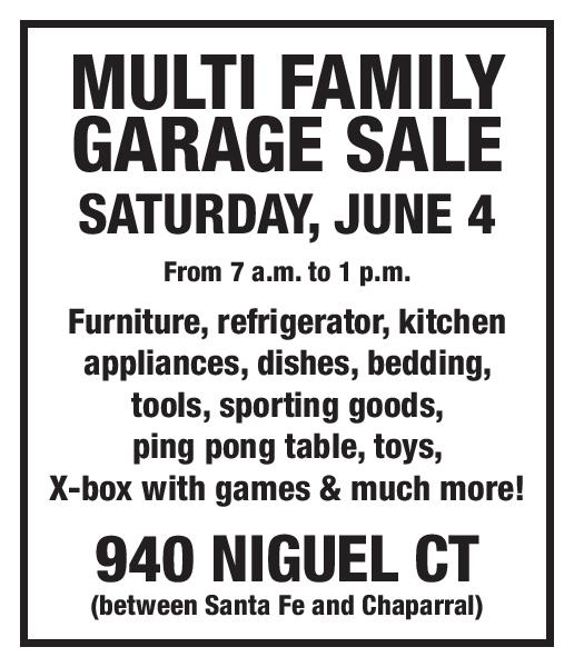 Classifieds for the week of June 2, 2016