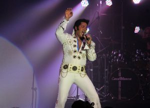 Robert Washington from Auburn, ME took home a check for $2,000 as the second place winner of the 2016 Elvis Rocks Mesquite competition held on June 17 and 18 in the CasaBlanca Showroom. Washington was also the first African American to win the World Championship Elvis Impersonator title. He beat out 100 other competitors and has traveled the world carrying on the memory of Elvis's music. Photo by Teri Nehrenz