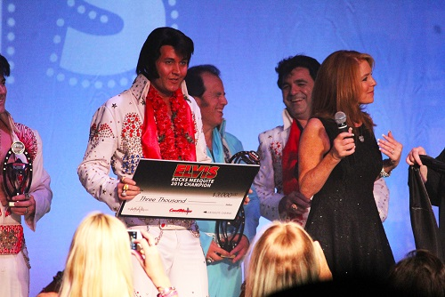 Elvis is still in the house