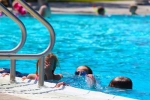 When the Mesquite Recreation Center outdoor pool opened on June 3 many Mesquite residents enjoyed cooling off from the triple digit temperatures.  Photo by Teri Nehrenz