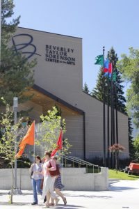 The Randal L. Jones Theater was renovated along with the new additions to the Beverly Taylor Sorenson Center for the Arts.