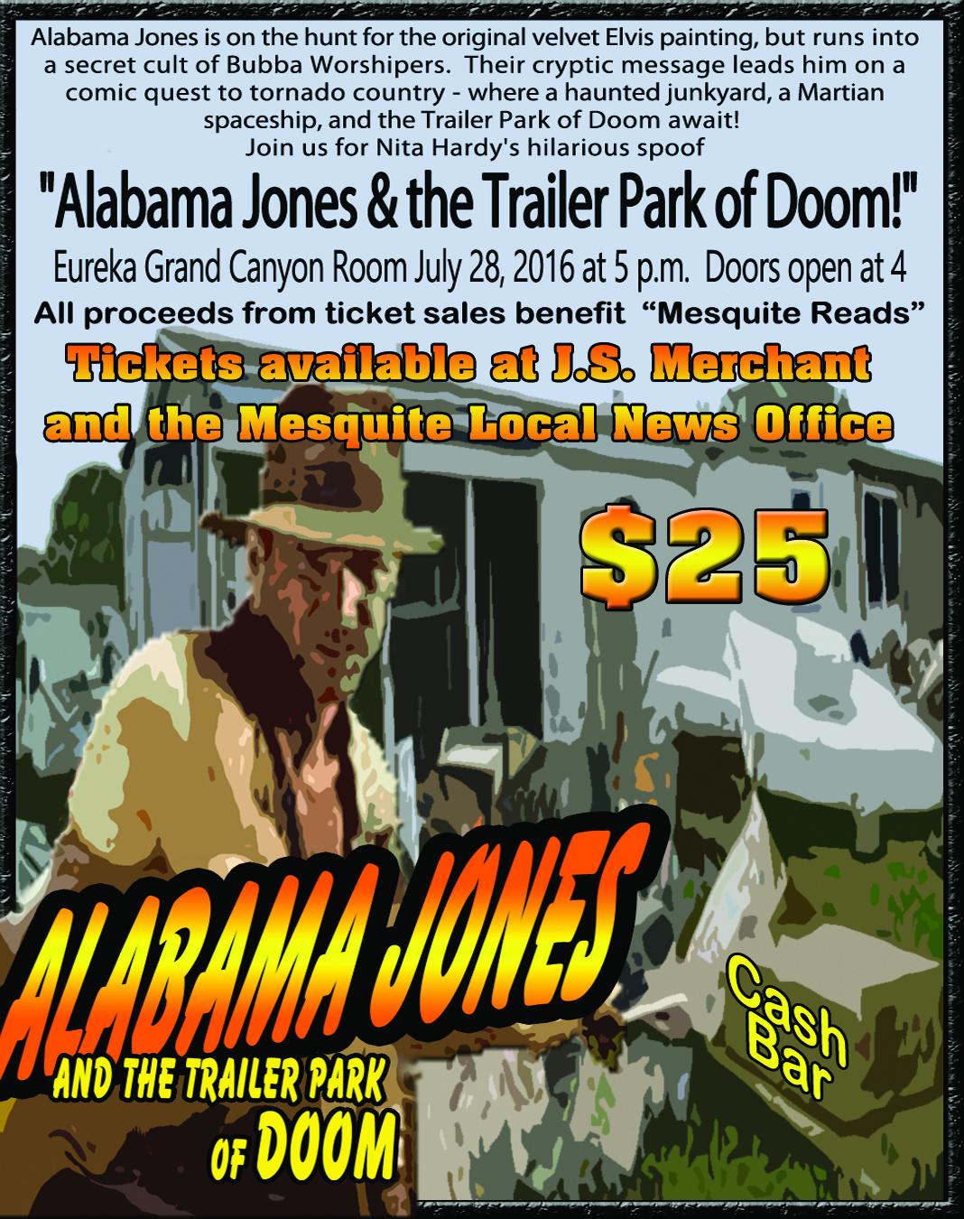 Alabama Jones Murder Mystery to benefit Mesquite Reads