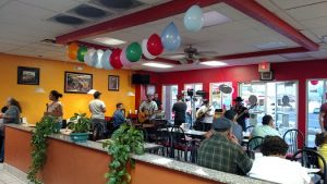 The restaurant was quite busy as the owner and staff of El Coyote Charro celebrated their first year in Mesquite with a grand opening event on Sept. 23. They offered live music along with food specials throughout the night to thank the community for their support. Photo by Stephanie Clark.