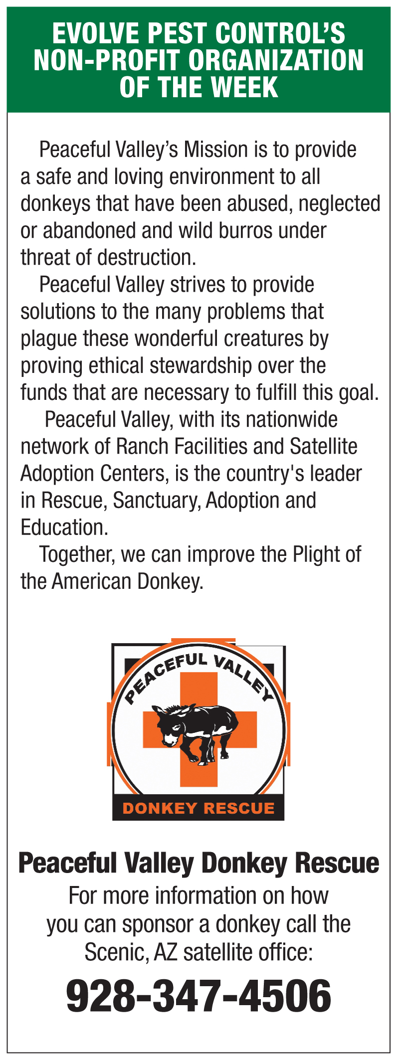 Evolve Pest Control's non-profit of the week