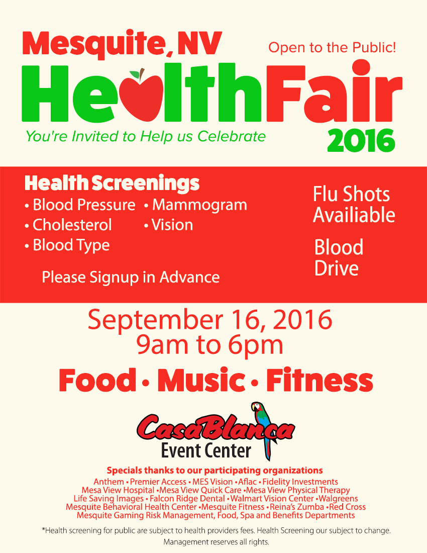 Mesquite Gaming Health Fair open to public