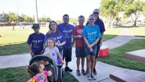 Friends and sister of former Mesquite Fire Chief Derek Hughes walk in memory of Derek on Sept. 10 during the 10th annual Walk in Memory, Walk for Hope held at the Mesquite Recreation Center. Photo by Teri Nehrenz