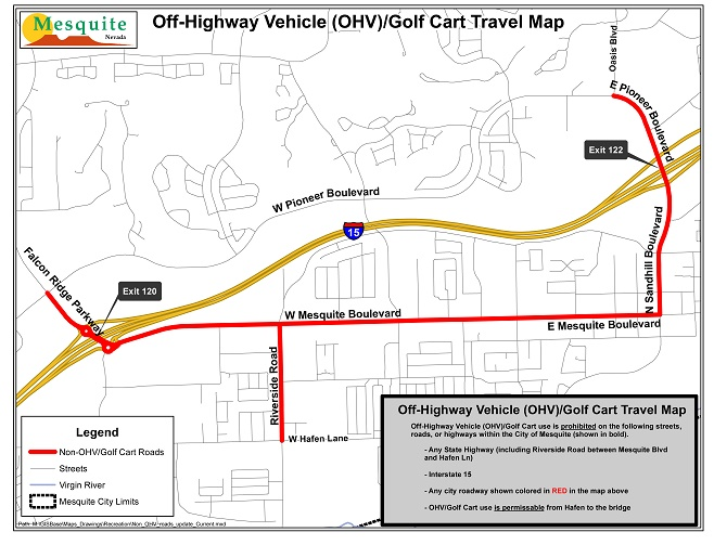 Off Highway Vehicle and Golf Cart use  within the City of Mesquite