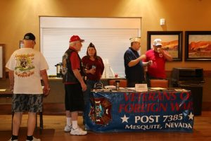 You didn't have to be a resident of Sun City to benefit from their Veterans Health Fair on Saturday, so many veterans took advantage of that resource. Councilwoman Cindi Delaney showed up to talk to the vendors. Photo by Stephanie Clark.