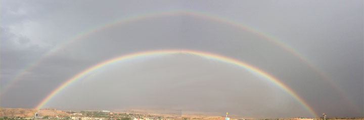 Double rainbow over the Mesquite skies caught yesterday Oct. 24 by Linda and Vern Hoiland of Mesquite.