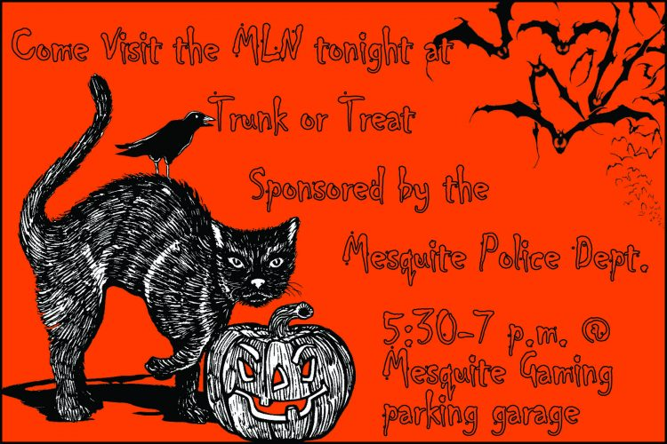 Trunk or Treat tonight at 5 p.m.