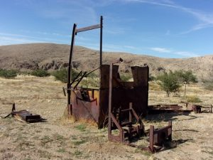Old mining equipment at Gold Butte town site, Gold Butte region - October 2016