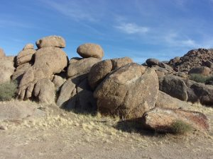 Granite rock formations at our campsite near Gold Butte town site, Gold Butte region - October 2016