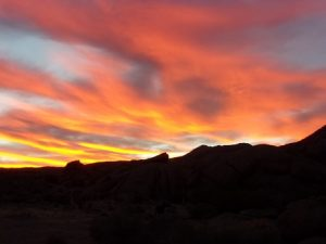 Sunrise at the campsite near the Gold Butte town site, Gold Butte region - October 2016