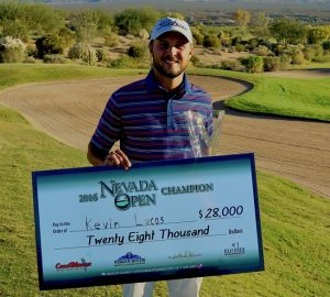 Kevin Lucas wins the 2016 Nevada Open, presented by Mesquite Gaming on Thursday, Nov. 10 at the CasaBlanca Golf Club in Mesquite, Nevada. Submitted Photo