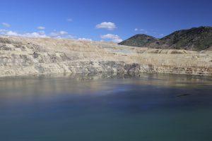 Contaminated lake looks like any other.