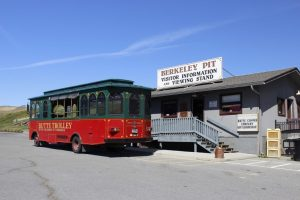 Butte Trolley Tours takes visitors to the contaminated Berkeley Pit