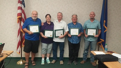Board members received NRECA Director Training Certifications