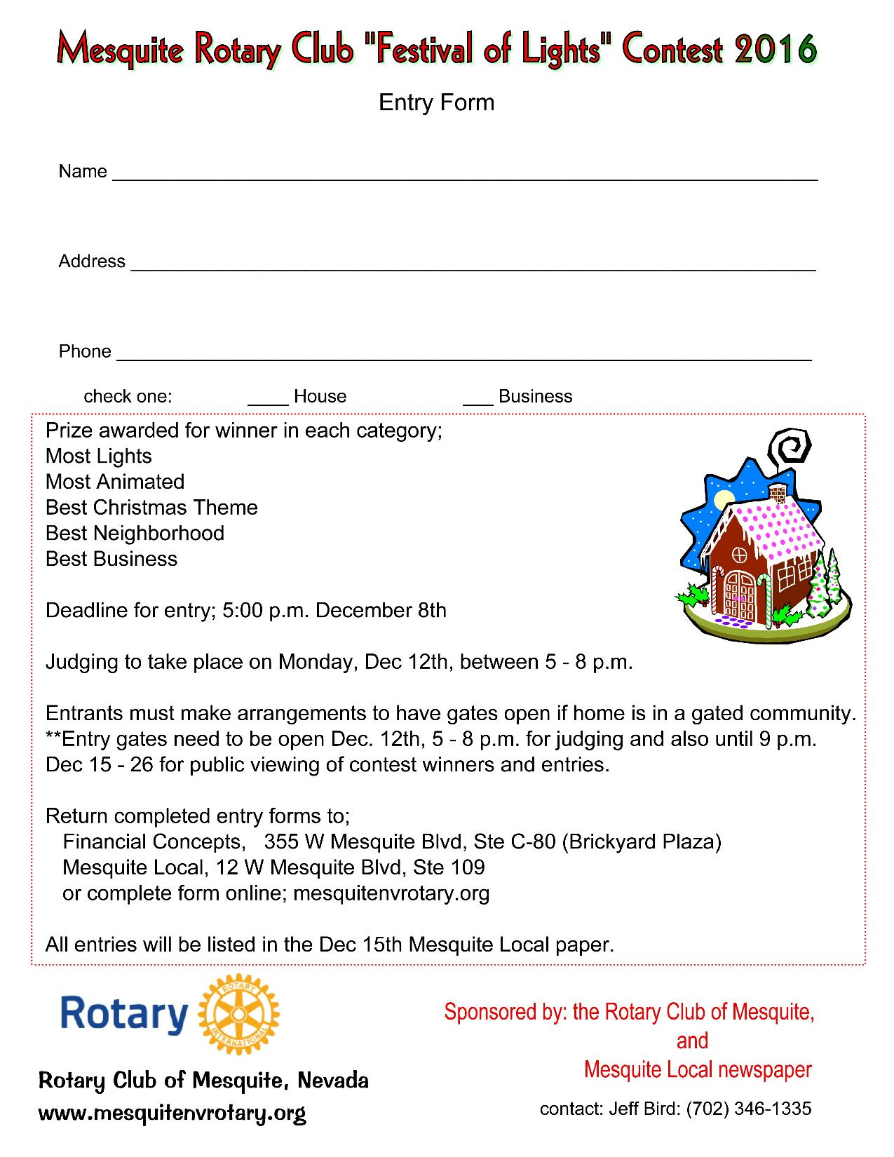 Rotary teams up for Christmas Lights Contest