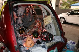 City Clerk Tracy Beck represented the city well with the back of her PT Cruiser at the 10th Annual Trunk or Treat Event sponsored by the Mesquite Police Department. Photo by Stephanie Clark.