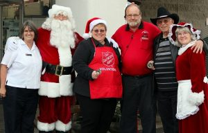 Santa and Mrs. Claus are happy to make the trip to help kick off the 2016 Salvation Army Christmas kettle campaign. Photo by Teri Nehrenz