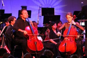 Special guest stars also included the Rosin Cello Duo (RCD) consisting of Daniel Gaisford who has established himself as one of the most expressive cellists performing today and Jessika Soli. Soli runs a private cello studio in Santa Clara, UT. Photo by Teri Nehrenz