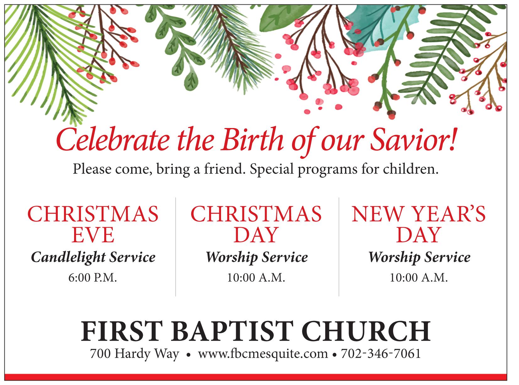First Baptist Church Christmas Services