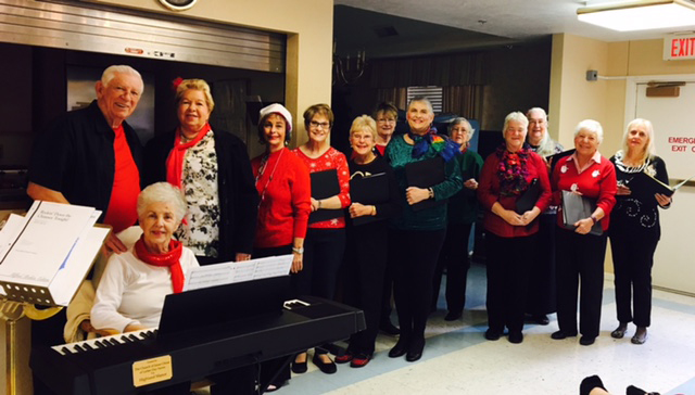 TrebleMakers sing at the Manor