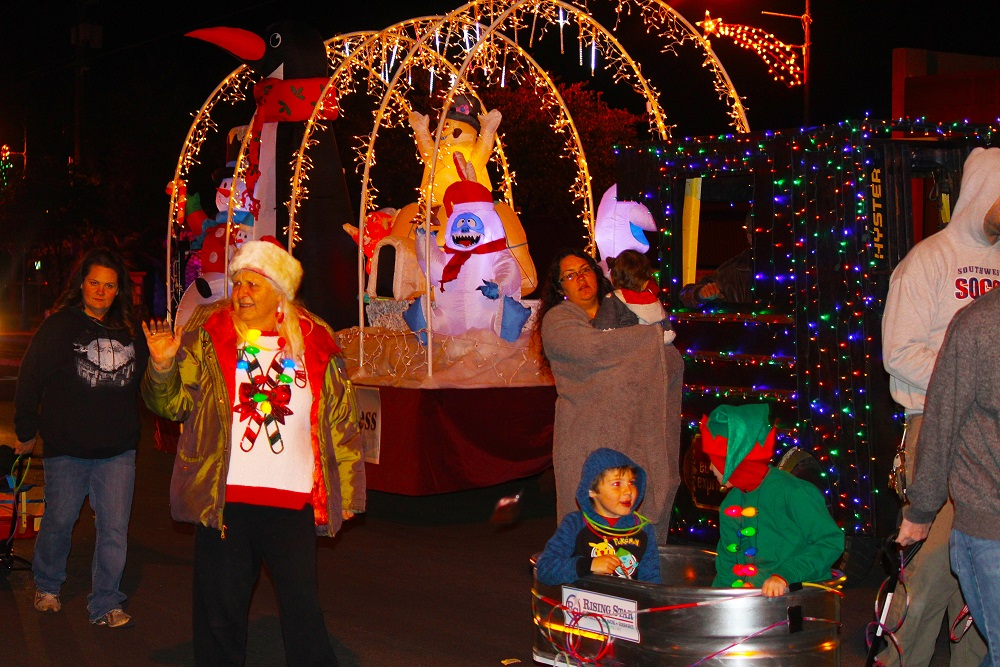 Second annual parade of lights brings in a real shocker