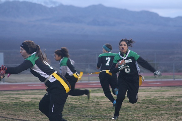 Fourth ranked Gridiron Gals hold off Dragons 20-6