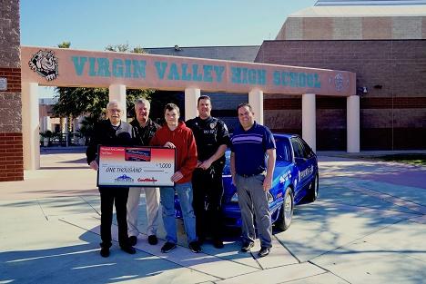 MESQUITE GAMING AWARDS $2,500 TO LOCAL SCHOOLS AS PART OF MESQUITE MOTOR MANIA ART CONTEST