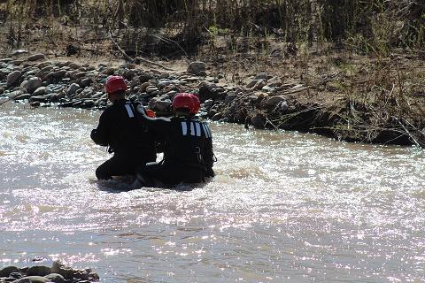 Swift water team gets wet