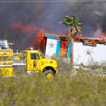 Un-Controlled burn destroys home in Desert Springs