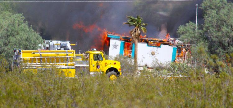 Un-Controlled burn destroys home in Desert Springs