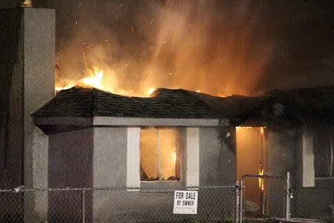 Fire destroys house in Bunkerville