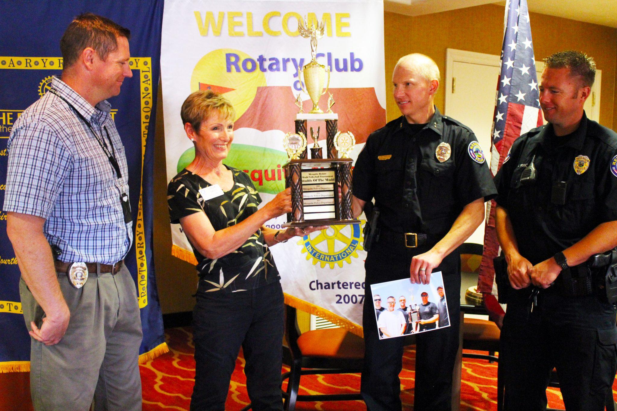 Cops get the Trophy