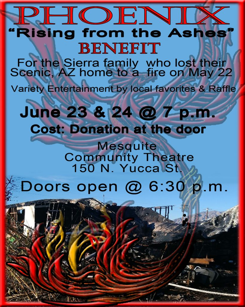 """Phoenix"""" (Rising from the ashes) benefit - Mesquite Local News"""