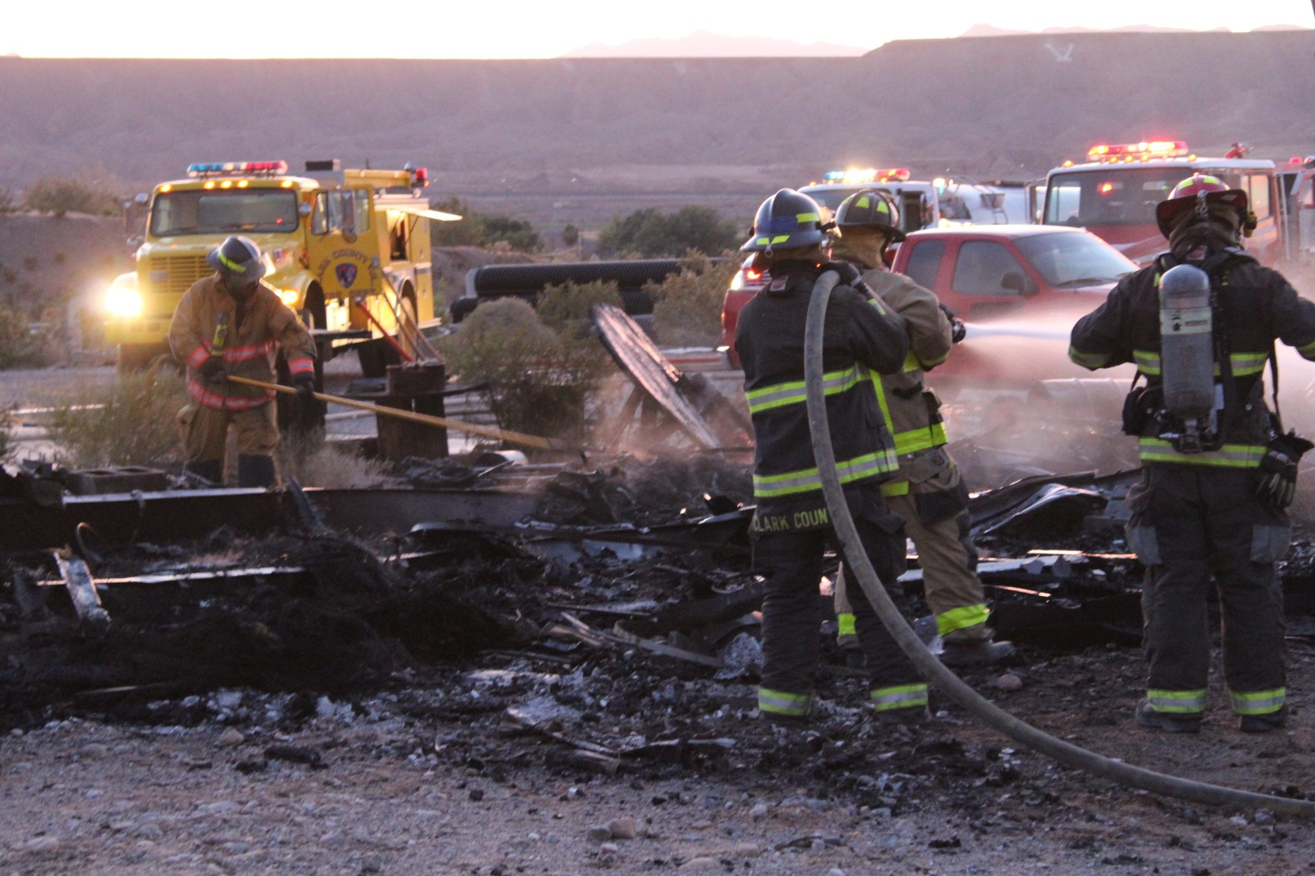 Another structure burns in Bunkerville