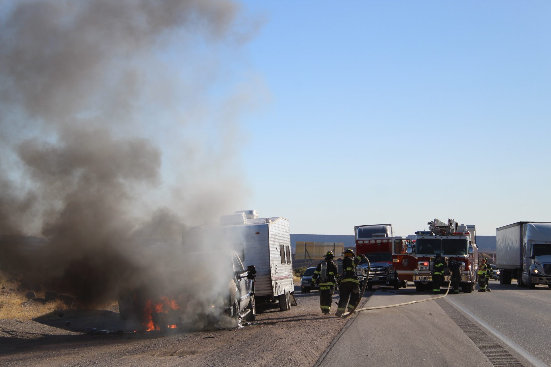 Blown turbo destroys truck