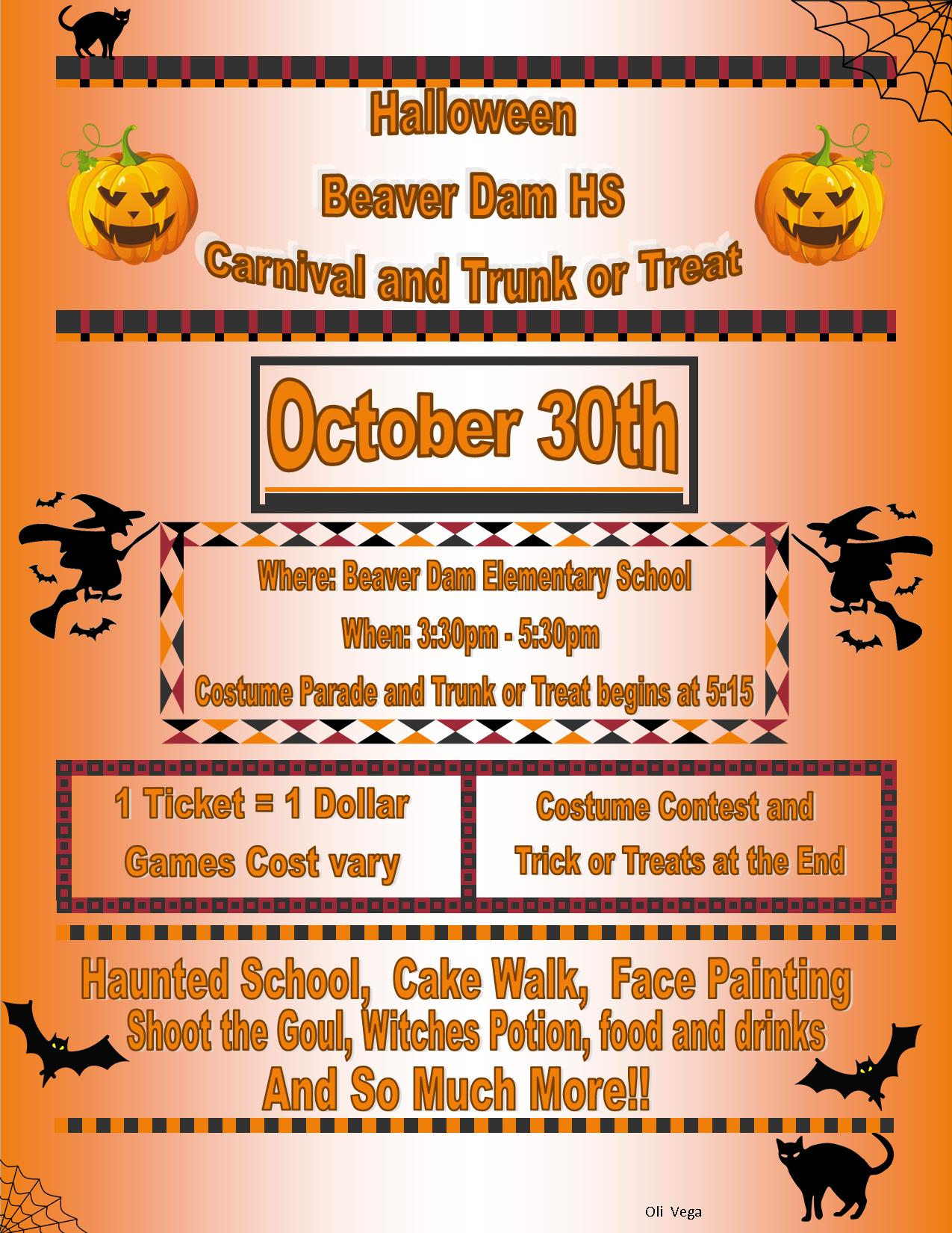 Beaver Dam Second Annual Halloween Carnival