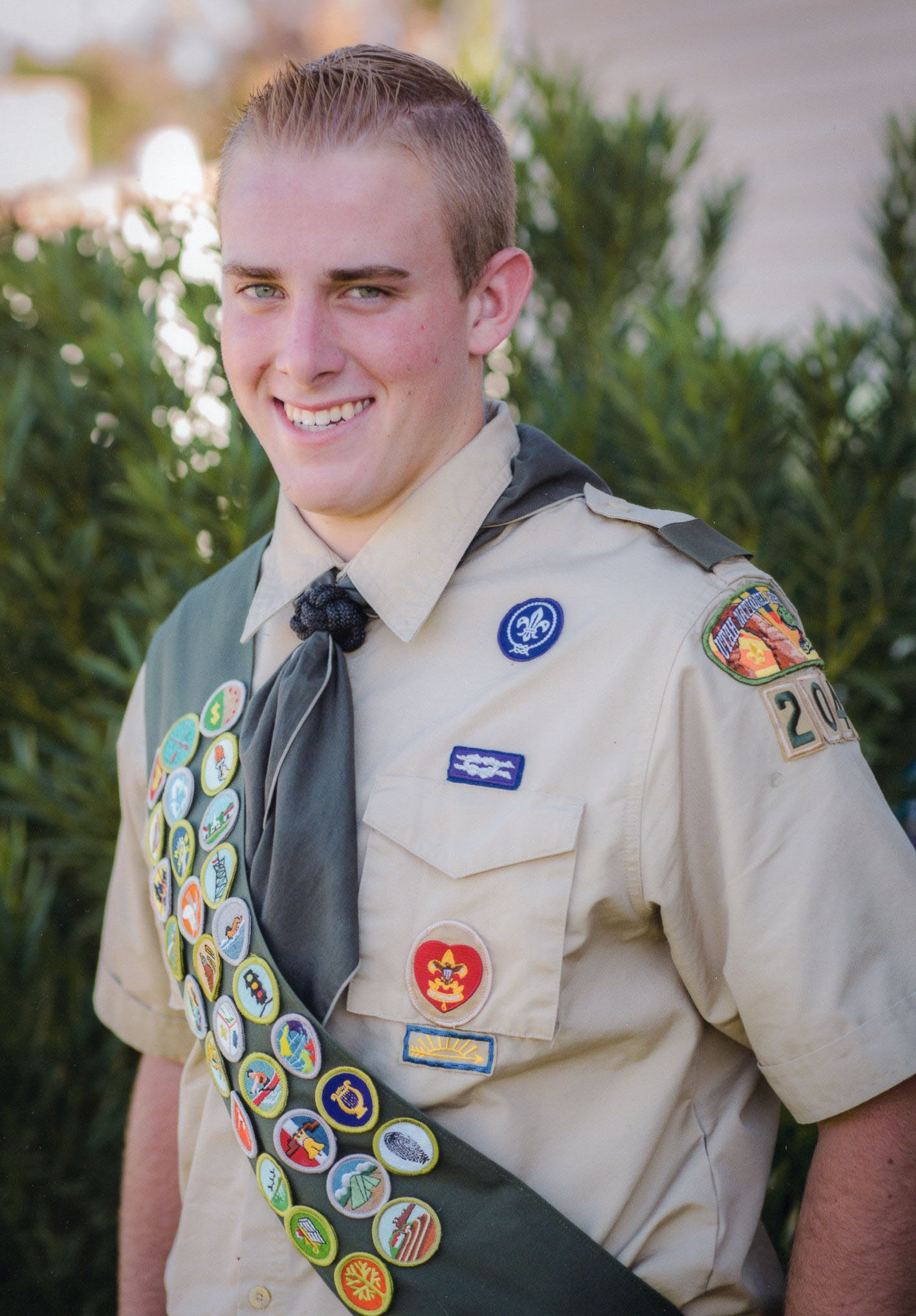 Riley Waite receives Eagle Scout Award