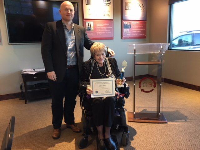 Joyce Brown  Toastmasters' winner