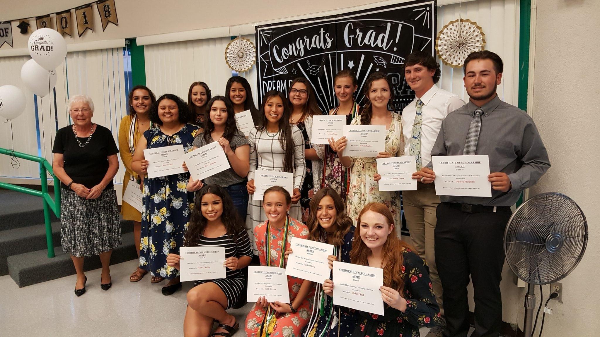MCEF awards 16 scholarships to VVHS seniors