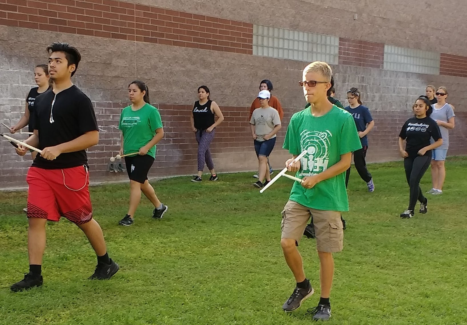 VVHS Marching Band Prepares During Summer