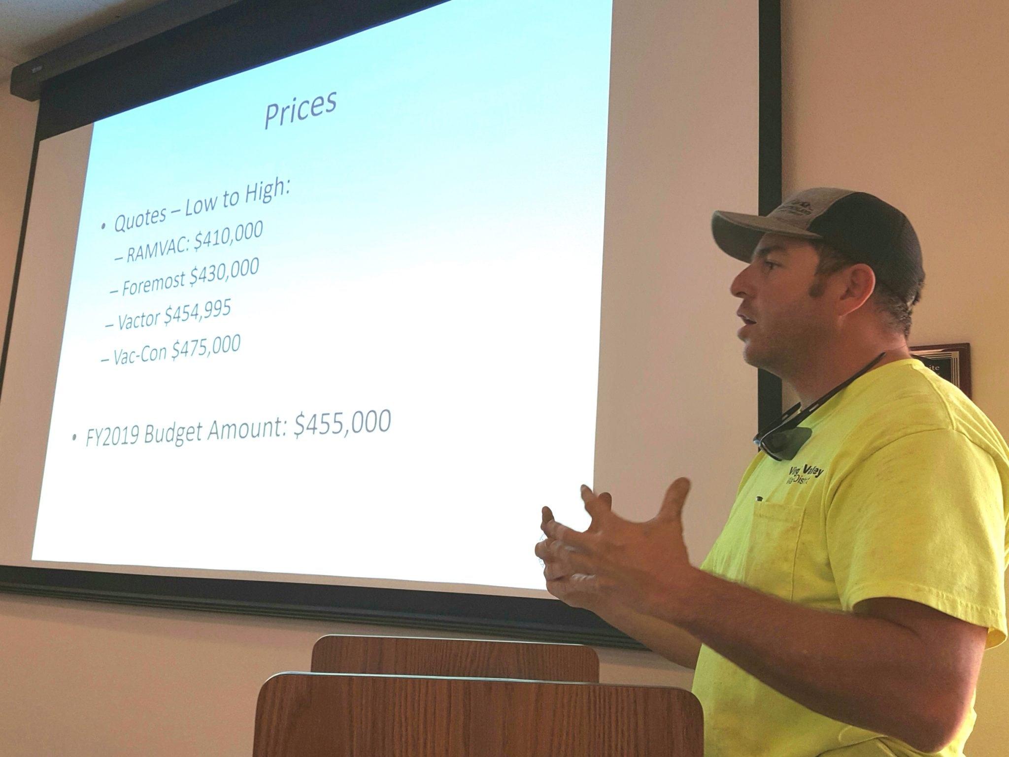 Board moves toward hiring engineer, equipment purchase
