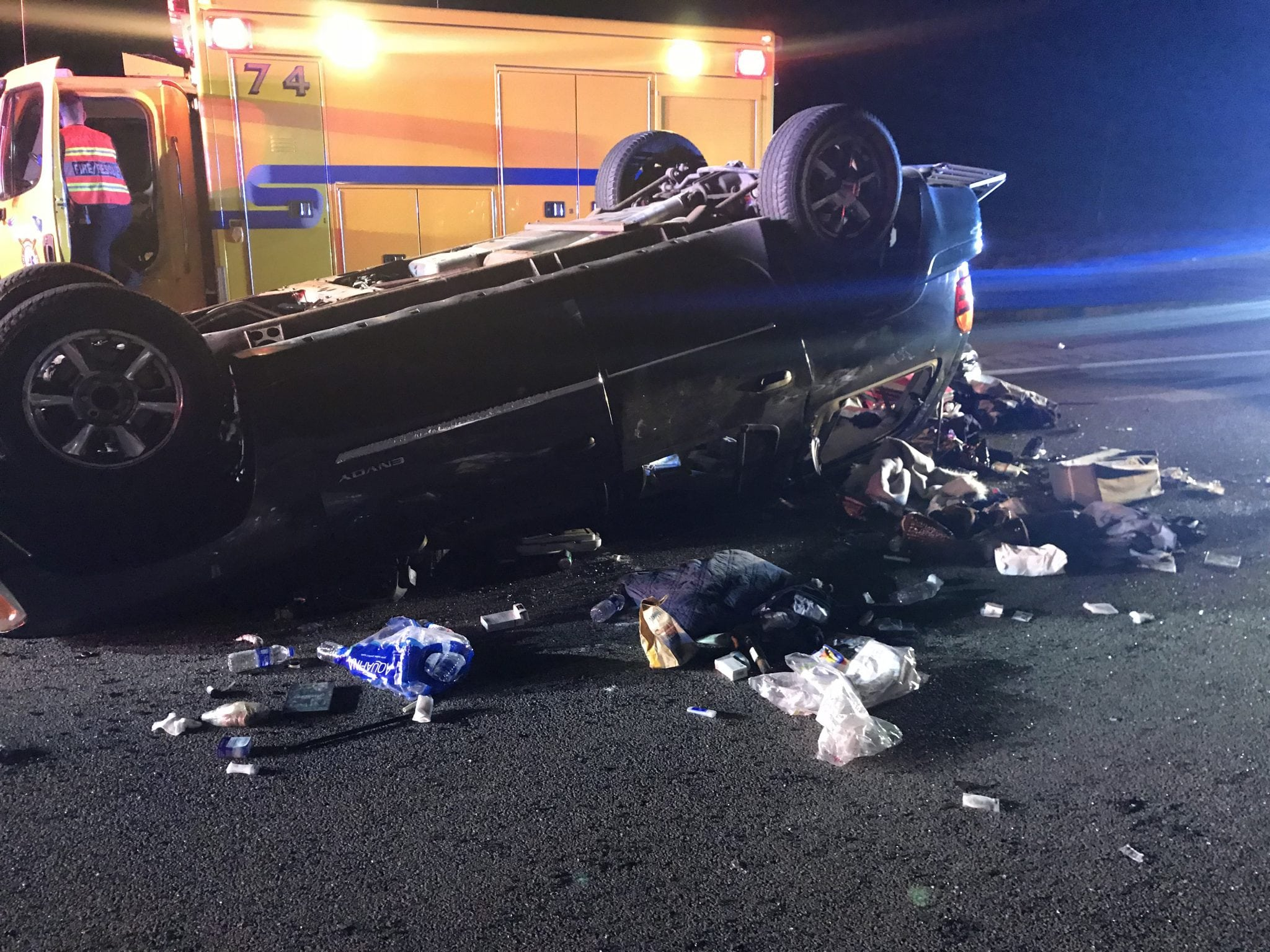 I-15 Vehicle Rollover